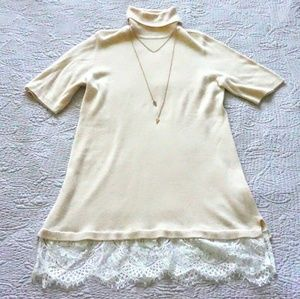 Apt. 9 pink turtle neck sweater dress